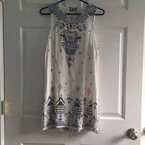 Anthropologie White Shift Dress